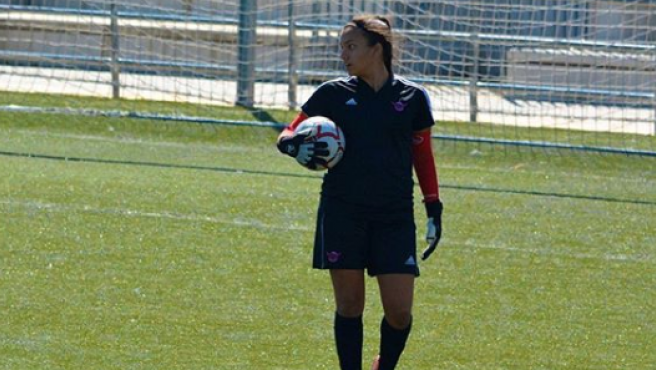 Zara Mújica, con el CD Tacón.