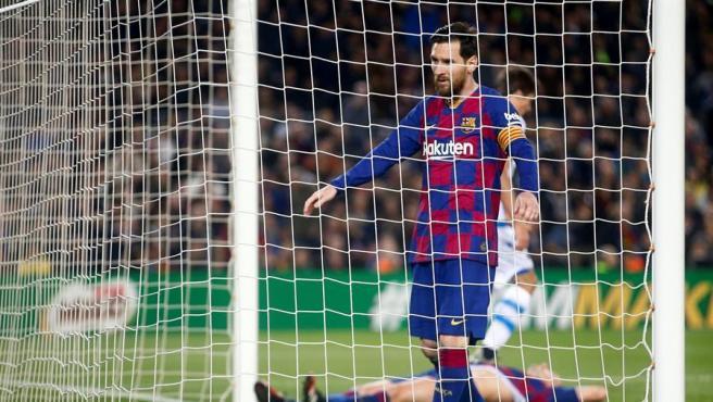 Messi, en el partido ante la Real