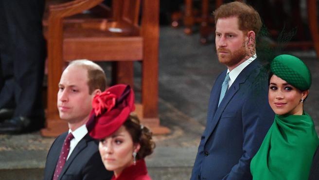 Los duques de Sussex y Cambridge.