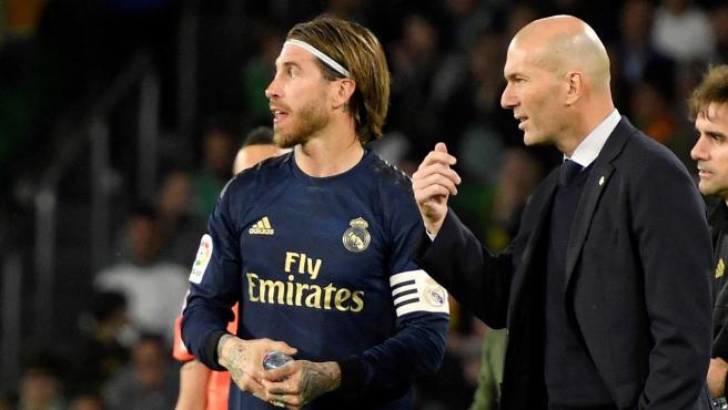 Zidane y Sergio Ramos.