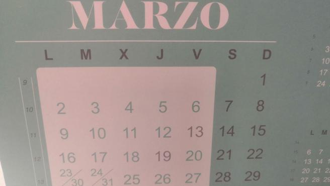 Calendario marzo 2020.
