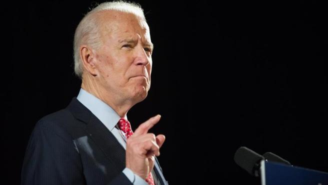 El ex vicepresidente de EE UU y precandidato demócrata a la Casa Blanca Joe Biden, durante un discurso en Wilmington, Delaware.