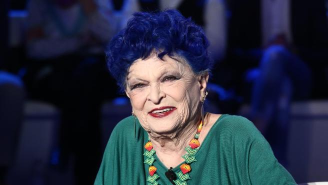 Lucía Bosé, en un programa de la televisión italiana en 2019.