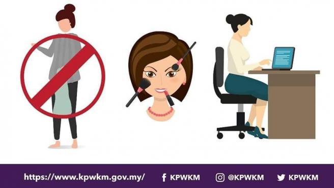 Uno de los carteles publicados en las redes sociales por el Gobierno de Malasia con consejos para la convivencia en el hogar durante el confinamiento por la pandemia del coronavirus COVID-19.