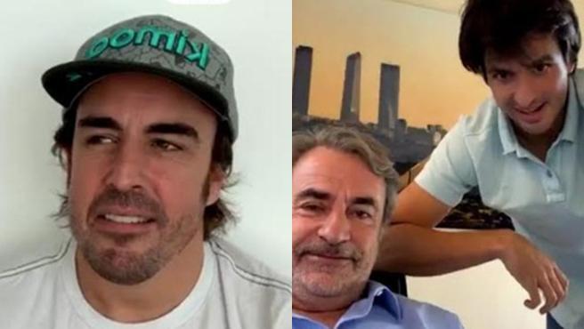Fernando Alonso y Carlos Sainz, padre e hijo.