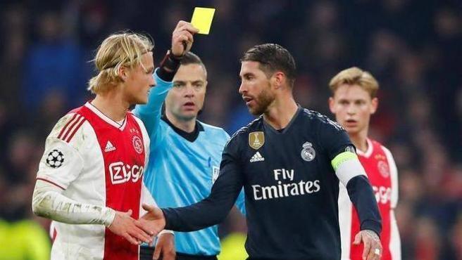 Sergio Ramos es sancionado contra el Ajax