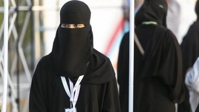 Una mujer saudí.