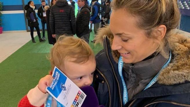 La periodista deportiva Clémentine Sarlat.