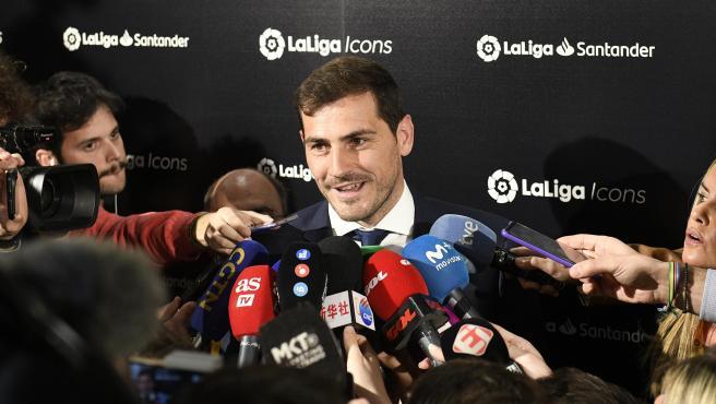El portero Iker Casillas, presentado como embajador de LaLiga Icons