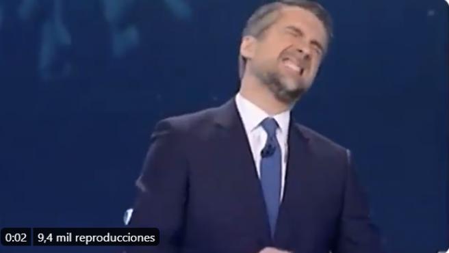 El momento del enfado de Carlos Franganillo.
