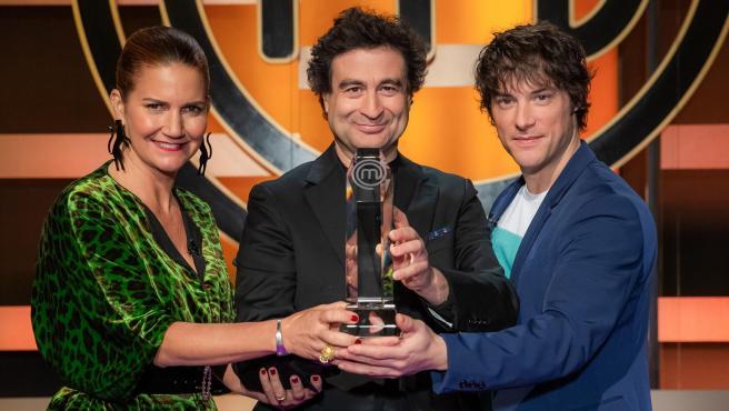 Samantha Vallejo-Nágera, Pepe Rodríguez y Jordi Cruz, jurado de 'MasterChef'.