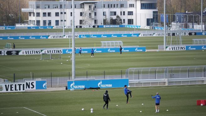 Entrenamiento del Schalke 04.