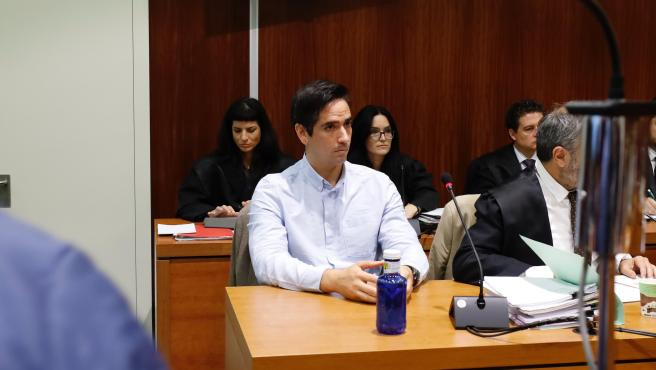 El acusado por el 'crimen de los tirantes', Rodrigo Lanza, durante el jucio celebrado en noviembre de 2019.