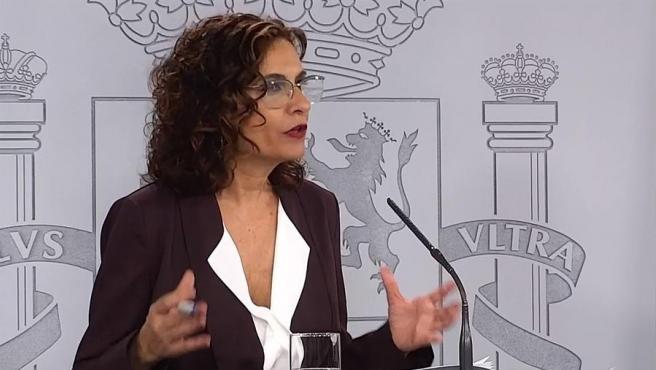 La ministra portavoz María Jesús Montero.
