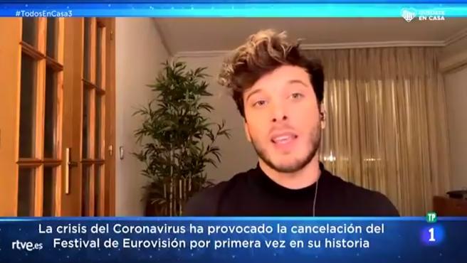 Blas Cantó, en 'Todos en casa'.