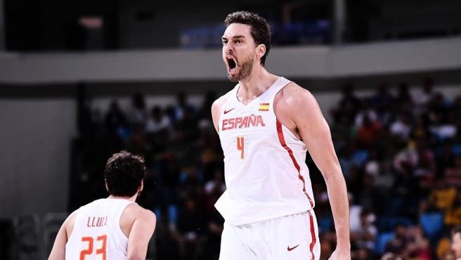 Pau Gasol con España en los Juegos Olímpicos