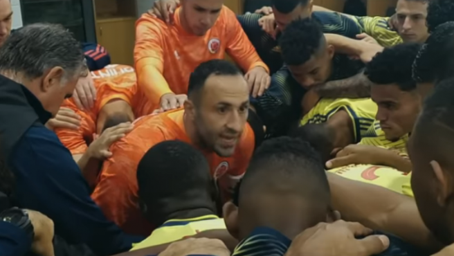 Una imagen del vídeo realizado por la Federación Colombiana de Fútbol para animar a los ciudadanos a quedarse en casa durante la pandemia del coronavirus.