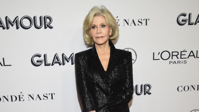 Jane Fonda en los premios Mujer del Año de la revista Glamour, 2019.