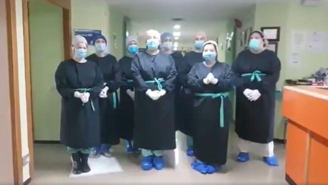Sanitarios del Hospital Universitario de Albacete