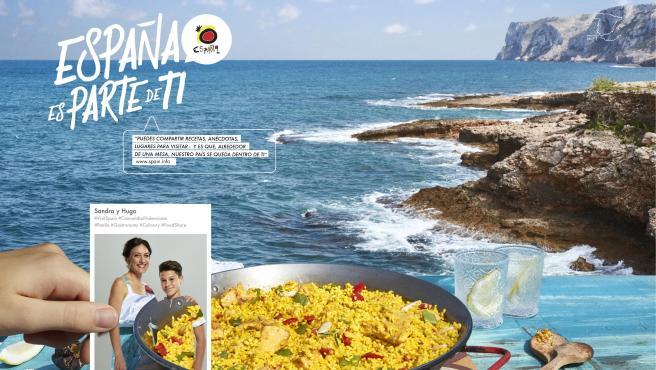 Cartel de 'Spain, part of you', una de las campañas turísticas españolas.