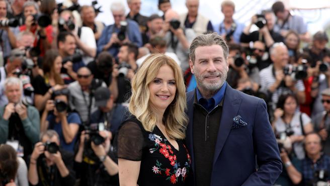 John Travolta y Kelly Preston , en 2018.