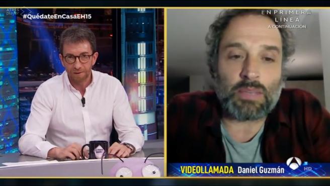 Daniel Guzmán, en 'El hormiguero: Quédate en casa'.