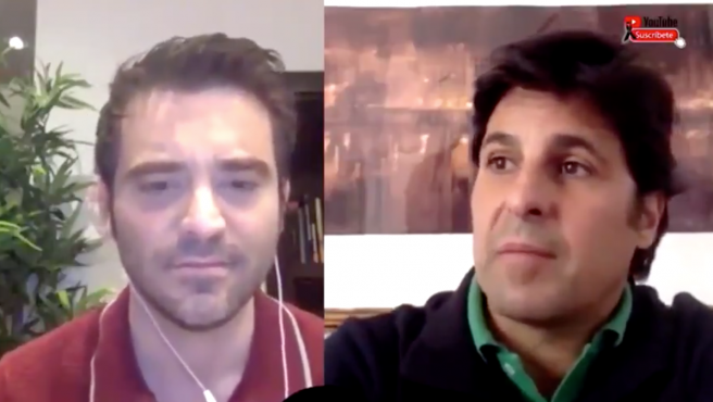 Javier Negre y Fran Rivera, en el programa 'Estado de alarma'.