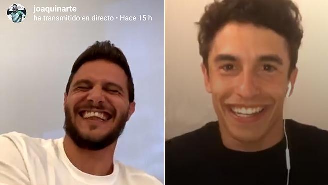 Joaquín y Márquez, durante su charla en instagram.