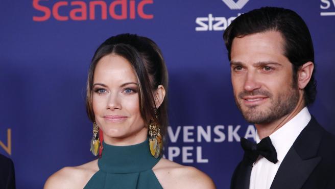 Sofía de Suecia y Carlos Felipe, en enero de 2020.