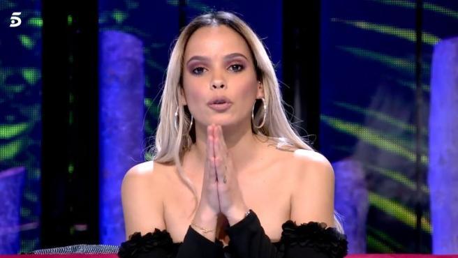 Gloria Camila lanzando un mensaje a Kiko Jiménez.