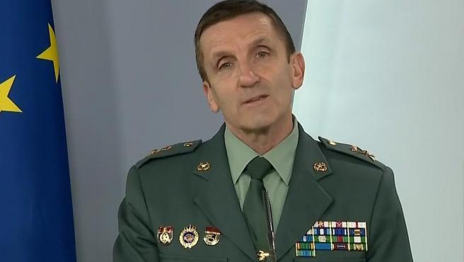 El jefe del Estado Mayor de la Guardia Civil, general José Manuel Santiago.