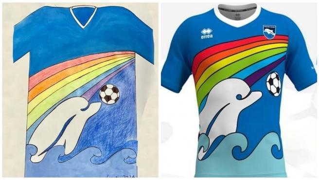 Camiseta especial del Pescara