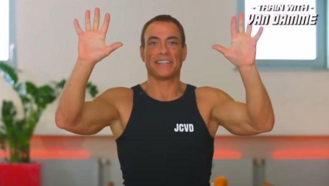Jean Claude Van Damme, durante una de sus clases de fitness.
