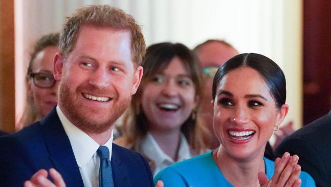 Meghan Markle y el príncipe Harry, en marzo de 2020.