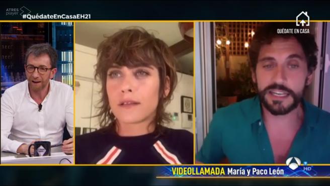 Maria y Paco León, en 'El hormiguero: quédate en casa'.