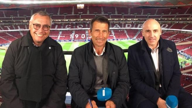 Michael Robinson, Carlos Martínez y Maldini