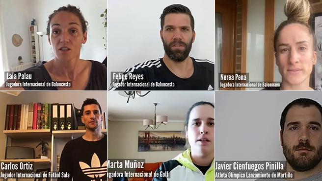 Algunos deportistas que reivindican sus derechos laborales
