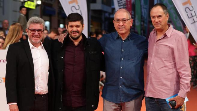 Los lobos de '¡Boom!', Valentín Ferrero, Manu Zapata, Alberto Sanfrutos y Erundino Alonso.