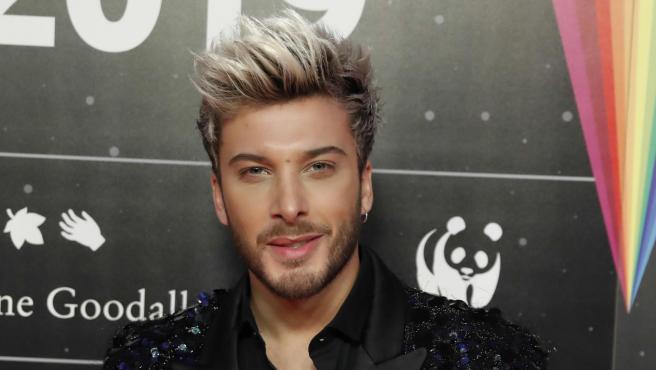 Blas Cantó en los Premios 40 Principales.