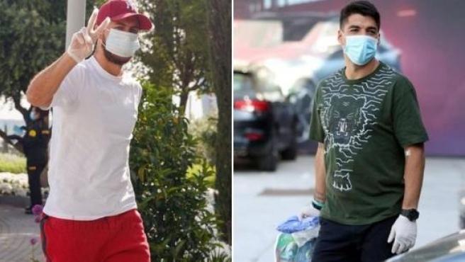 Eden Hazard y Luis Suárez acuden a sus respectivas ciudades deportivas.
