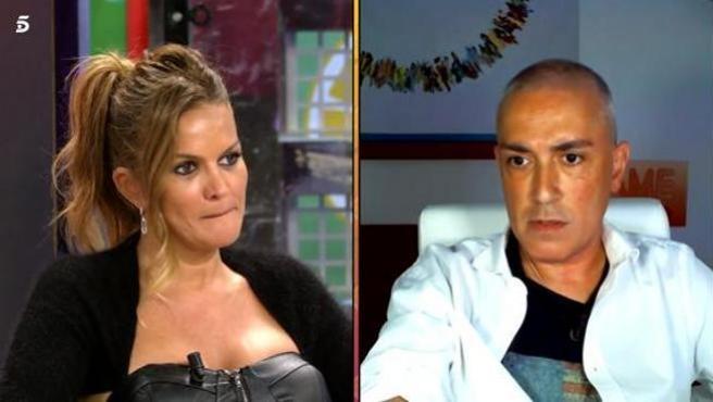 Marta López y Kiko Hernández en 'Sálvame'.