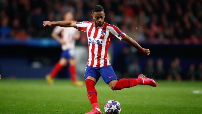 Renan Lodi, durante un partido del Atlético de Madrid.