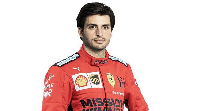 Carlos Sainz, con los colores de Ferrari (fotomontaje)