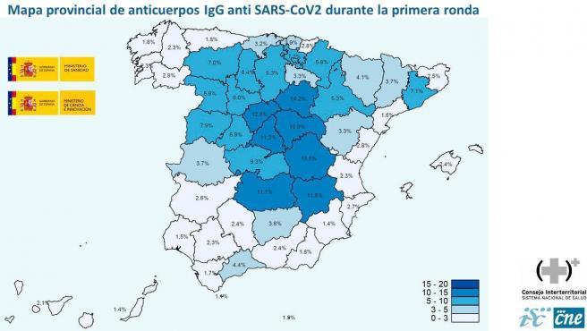 Mapa provincial de seroprevalencia