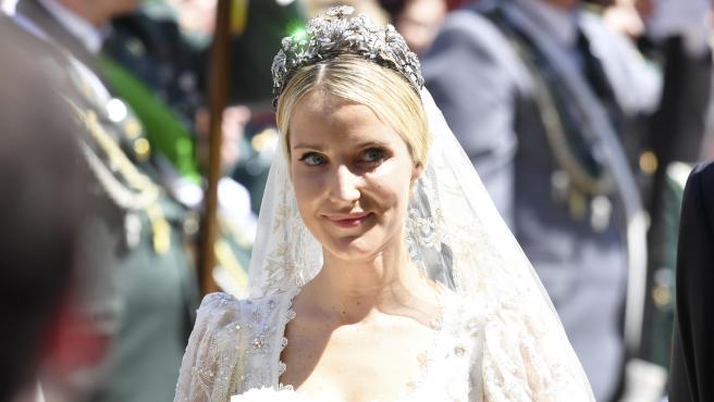 Ekaterina Malysheva, futura princesa de Hannover, durante su boda, en 2017.