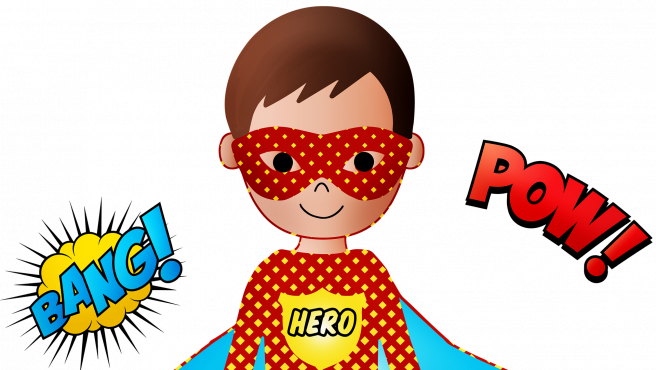 Todos los superhéroes llevan una máscara o antifaz.