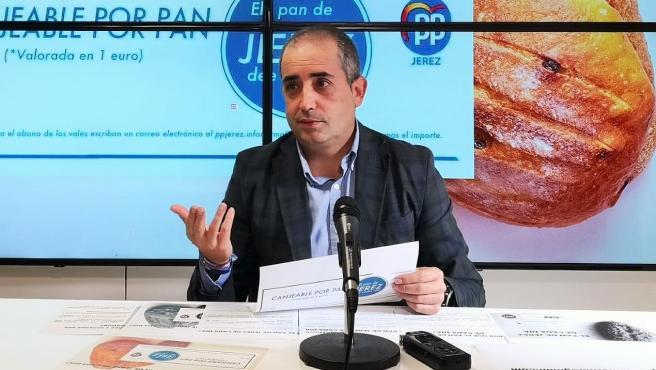 El portavoz local del PP de Jerez, Antonio Saldaña