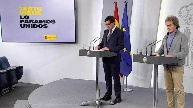 Rueda de prensa de Salvador Illa y Fernando Simón