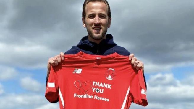 Harry Kane, con una camiseta del Leyton Orient FC.
