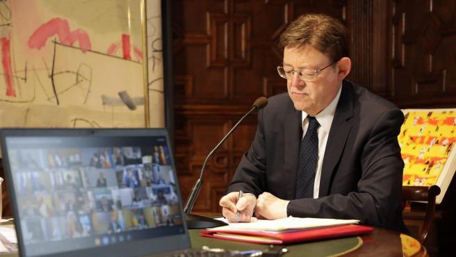Ximo Puig durante la reunión de presidentes en una imagen de archivo